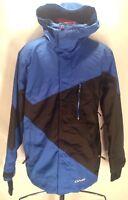 F879 Men's DNA Parka Jacket Size XL Hood Parka Ski Snowboarding Black.Blue