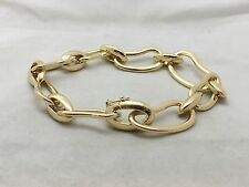 POMELLATO Paisley 18k Yellow Gold Link Bean Bracelet - Italy