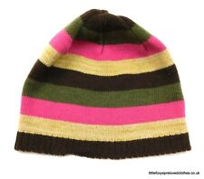 4-8 years girls George striped warm colourful hat