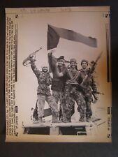 Persian Gulf War Press Wire Photo 1991 Kuwaiti Celebration with Sovietmade AK-47
