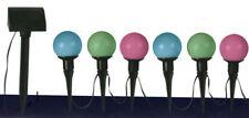 Solar Lichterkette 6er LED mit Farbwechsel Solarleuchte Solarlampe Gartenleuchte