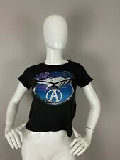NEW Junk Food Aerosmith Graphic T-shirt Crop Top SIZE M