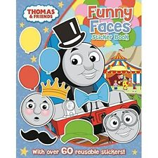 NEW - THOMAS and FRIENDS - FUNNY FACES with OVER 70 reusable STICKERS