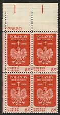 #1313 5c Poland's Millenium, Plate Blk [28630 UL], Mint **ANY 4=FREE SHIPPING**