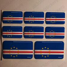Pegatinas Cabo Verde Pegatina Bandera Cabo Verde Vinilo Adhesivo 3D Relieve