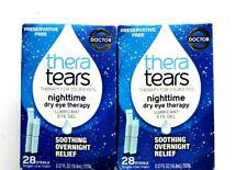 Thera Tears Dry Eye Nighttime Lubricant Eye Gel 2x28 Sterile Vials exp.07/2019