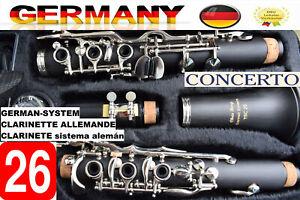 Klarinette Vollsystem 26 Klappen deutsches System Clarinette allemand 26