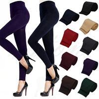 Women Winter Warm Slim Leggings Stretch Pants Thick Footless Stockings