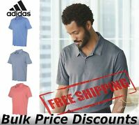 Adidas Mens Heathered Sport Shirt Polo Collar Solid A240 up to 4XL