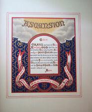 Very Rare 1870 Illuminated Christian Year Duffield Ashmead Color Illustratd Book