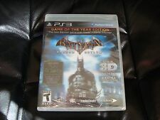 Batman Arkham Asylum GOTY Edition (PS3) NEW SEALED rare FIRST PRINT w/3D cover