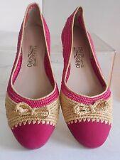 Salvatore Ferragamo Ballerina Pink Raffia - Leather Flat Ballet Shoe Bow 8M