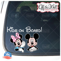 """Cute Mickey and Minnie """"Kids On Board"""" Awareness Sign for Cars/Trucks"""