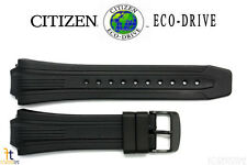 Citizen Eco-Drive E168-S080118 Black Rubber Watch Band Strap