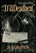 "Fiction: ""D"" IS FOR DEADBEAT by Sue Grafton. 1987. Signed."