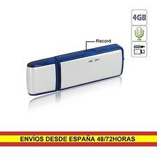 Pendrive USB 4GB Grabadora con microfono integrado
