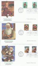 5 FDC 32 CENT VICTORIAN CHRISTMAS SHEET ISSUE SANTA SAINT NICK FREE SHIP 166