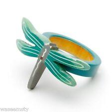 Dragonfly Wooden Napkin Ring Holder Set of 4 Kitchen Dinning Table Decor