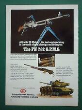 3/1977 PUB FN HERSTAL MITRAILLEUSE MAG CAL 7,62 MACHINEGUN / MONTEDEL SISTEMI AD