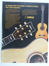 retro magazine advert 1983 YAMAHA acoustic guitars