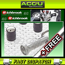 Richbrook Spinning Auto Negro Anti Robo válvula Polvo Tapas Juego De 4 + Libre
