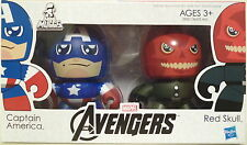 "CAPTAIN AMERICA & RED SKULL The Avengers Movie Mini Muggs 3"" Vinyl Figures 2012"