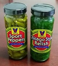 VIENNA BEEF Chicago Combo Hot Dog & Brat Sport Peppers and Relish Condiment Kit