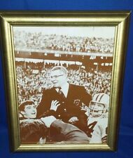 Rare Framed Vince Lombardi being carried Super Bowl II Vintage Photo sepia PRINT