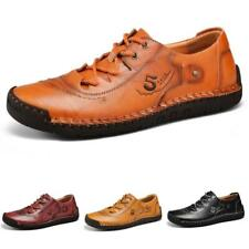 Mens Low Top Faux Leather Shoes Driving Moccasins Flats Soft Non-slip Outdoor L