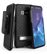 Encased Samsung Galaxy S10e Belt Clip Case Holster w/ Kickstand (Slimline) Black