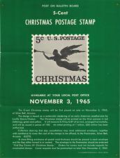 1965 Flyer: 5-Cent Christmas Postage Stamp, Philately Postal Weathervane Design