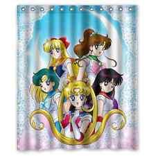 Sailor Moon Anime Comic Polyester Waterproof Bath Shower Curtain 60 x 72 Inch