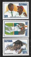 GUYANA 1995 BRIAN LARA CRICKET Test Match World Record SOBERS 3v MNH