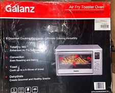 Galanz Air Fry Toaster Oven Digital In Stainless Steel 0.9 cu ft 1800W 6 Slice