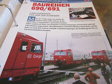 Deutsche Eisenbahngeschichte DB AG ab 1994 Baureihe 690, 691 CargoSprinter