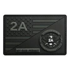 Gun Permit 2nd Amendment NRA 1791 USA Hook Patch [3D-PVC Rubber- 3.5 inch-MG-9]