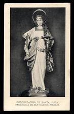 "santino-holy card""S.LUCIA V.M.-MADRID"
