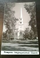Early 1900 Thompson CONGREGATIONAL CHURCH Postcard RPPC Unused, unopened.