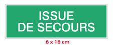 Autocollant  --  ISSUE DE SECOURS  --  [6 x 18 cm]