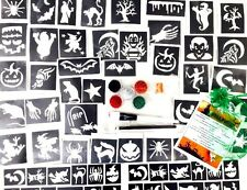 halloween glitter tattoo kit 40 stencil kit OR 50 stencil boxed kit OR refills