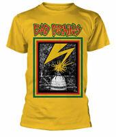 Official Bad Brains T Shirt Yellow Album Logo Mens Metal Hardcore Punk Rock New