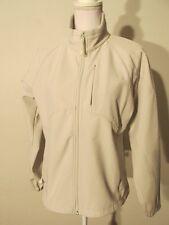 V7808 Black Diamond Off-White Zip Up Fleece Lined Jacket Women's M