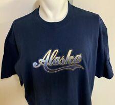 Vintage NOS Alaska Northern Lights Genuine Crystals Blue T Shirt XL NWT