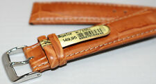 New Mens Di-Modell Tan Padded Genuine Alligator 20mm Watch Band Silver Buckle