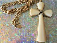 VINTAGE ESTATE DESIGNER CROSS PENDANT NECKLACE