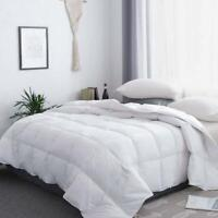 White Goose Down & feather Comforter Duvet Insert Twin/Queen Size 8 Cover Tabs