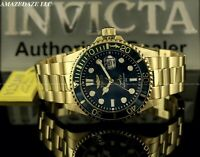 NEW Invicta Men's Pro Diver SUBMARINER BLUE DIAL GOLDEN Stainless Steel Watch