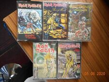 IRON MAIDEN  x 5 cassette tapes.
