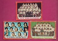 1973-74 TOPPS RED WINGS + BLUES + KINGS  TEAM PHOTO  CARD