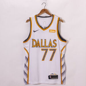2021 Luka Doncic 77# T-shirt en jersey New Season City Edition Unisexe joueur de basketball Nom et num/éro T-shirt 100/% coton Col rond Manches courtes
